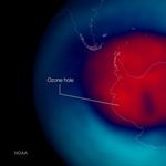 Antarctic ozone hole similar to last year